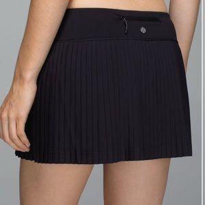 Lululemon Black Pleat to Street Tennis Skirt